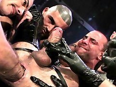 Check out this mind-blowing video of a massive group scene, with Matthieu Paris as the focus bottom! Five men (Franзois Sagat, Taurus, Chris Neal, Ja